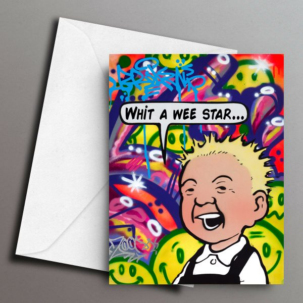 Wee Star Greeting Card Front