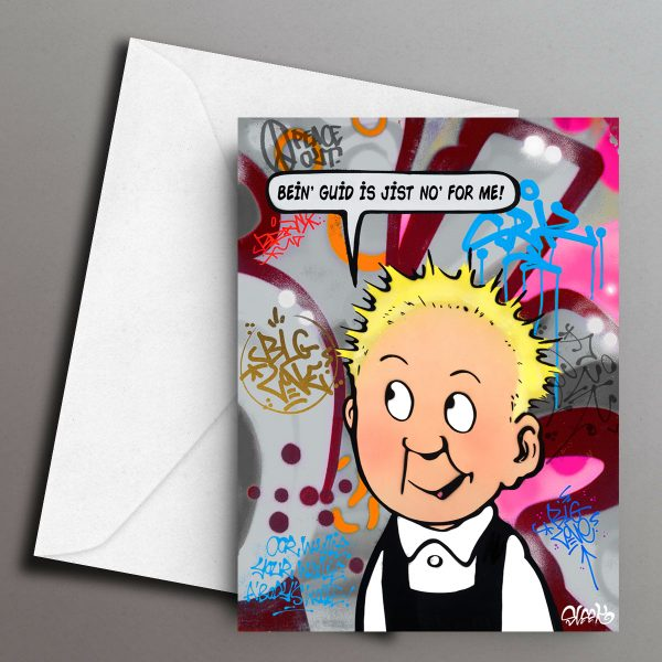 Wonder Wullie Greeting Card Front