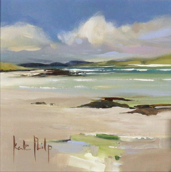 Kate Philp_Original_Eoligarry Sands, Barra_image 8x8_acrylic