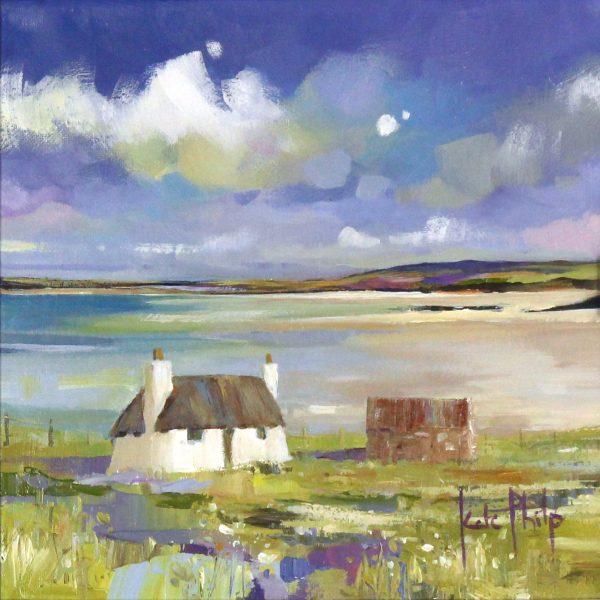 Kate Philp_Original_Vallay Strand, Uist_image 10x10_acrylic