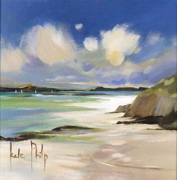 Kate Philp_Original_White Sails, Barra_image 8x8_acrylic
