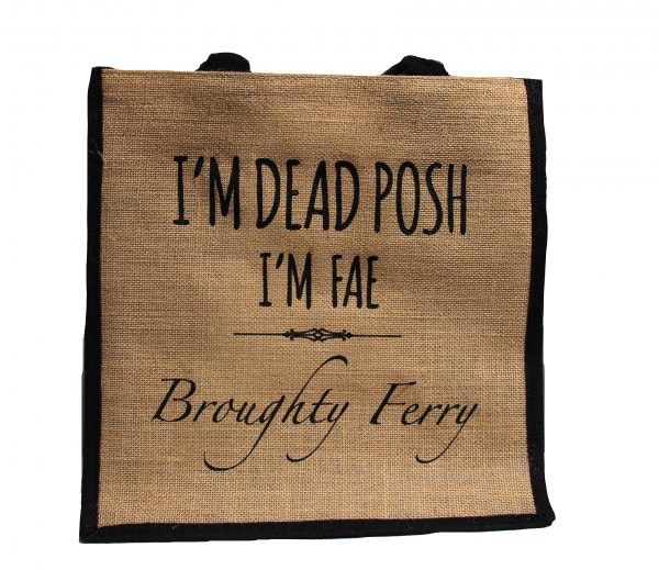 dead posh jute shopper