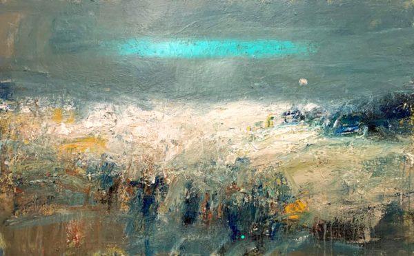 Nael Hanna, Breezy Day, Angus Shoreline, Image 40 x 63 Framed 49 x 72 £12,000 unframed