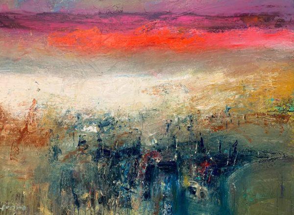 Nael Hanna, Summer Skies Over Angus, Image 48 x 72 Framed 57 x 81 £15,000 unframed