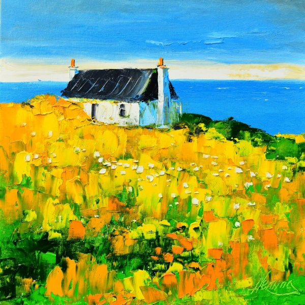 11.Spring Light, Cottage at Balemartine, Tiree