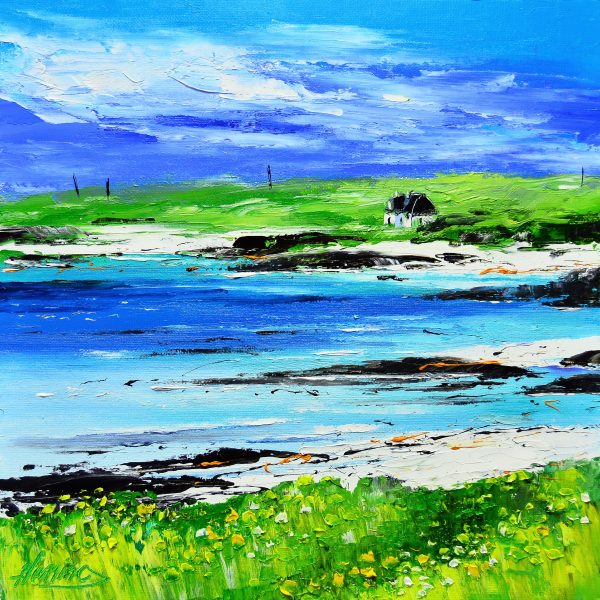8.Cottage at Port Ruadh, Summer, Gunna Sound, Tiree