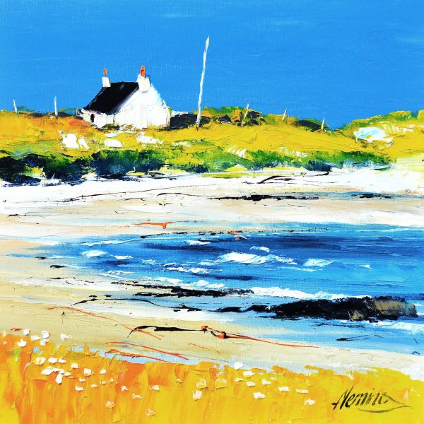 9.Cottage on the Shore, Spring, Hynish Bay, Tiree