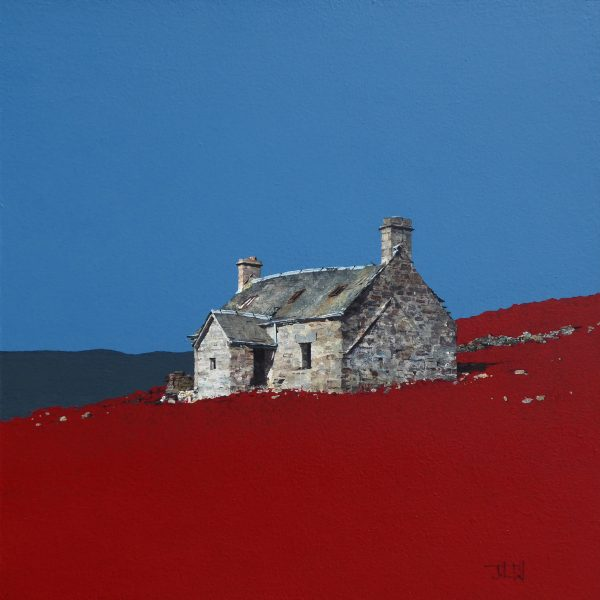Autumn at Ruichlachrie, Glen Bruar (size 18 x 18 inches)