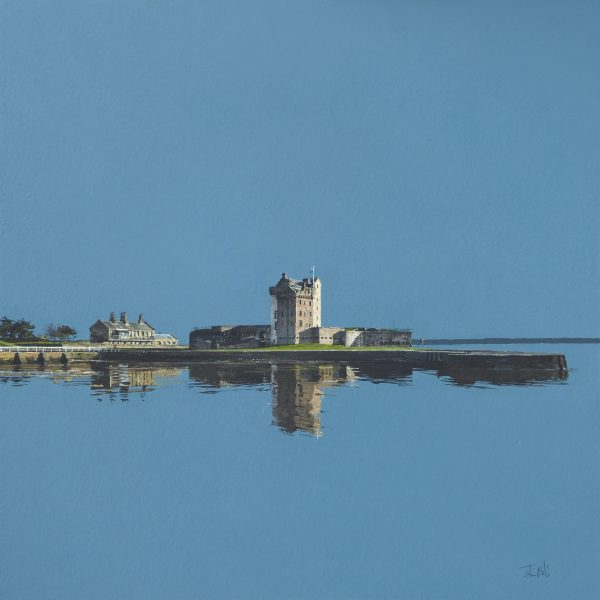 High Tide, Broughty Ferry Castle (size 18 x 18 inches)