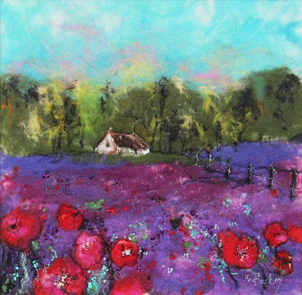 Moy Mackay_Poppy and Lavender_£850_14.5x14.5_21x21