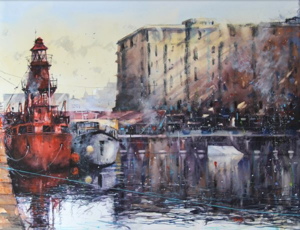 GRAHAM WANDS_Carr Lightship at Victoria Dock_26x36_36x46_950