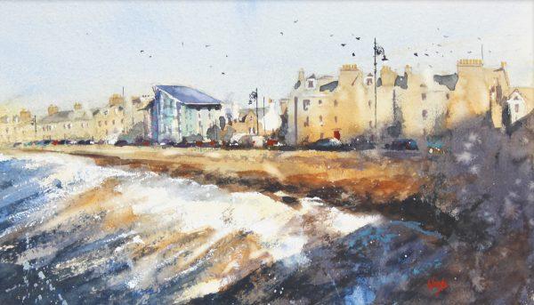 Graham Wands_Beach Crescent, a Study_Watercolour_8x15_19x26_350