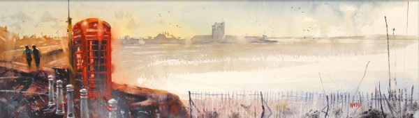 Graham Wands_The Ferry Phone Box _Watercolour_10.5x38_21x48_650