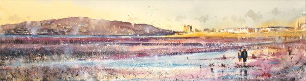 Graham Wands_title3 _Beach Stroll, Broughty Ferry_10.5x38_21x48_650 unframed