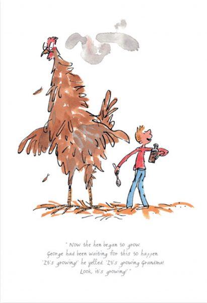 The Hen Began To Grow