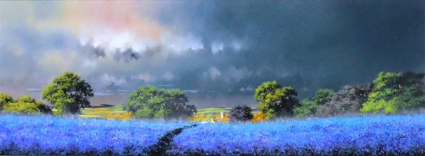 Allan Morgan_Original_Oil_Harvest (BLUE) 15x40