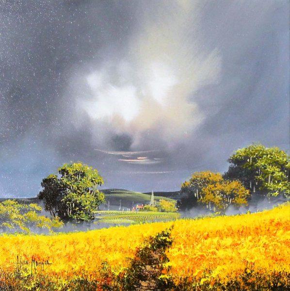 Allan Morgan_Original_Oil_Harvest (yellow) 12x12