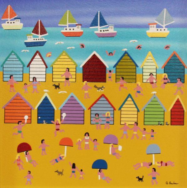 Gordon Barker_Beach Day (I)_12x12_17x17_unframed