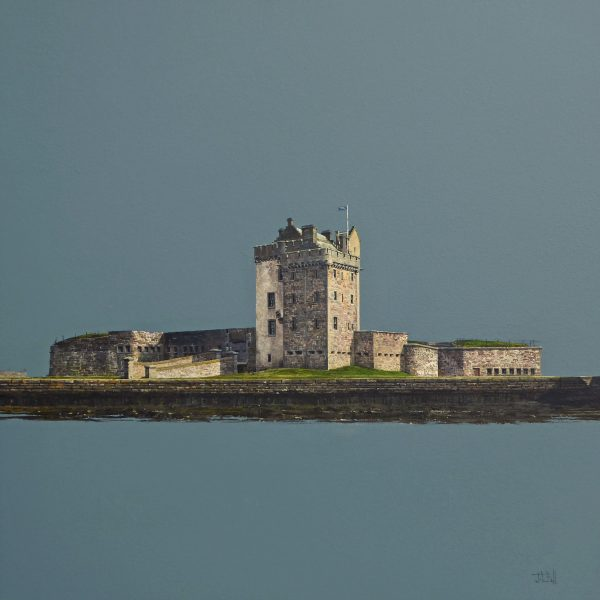 Across the Harbour, Broughty Ferry Castle (size 24 x 24 inches)