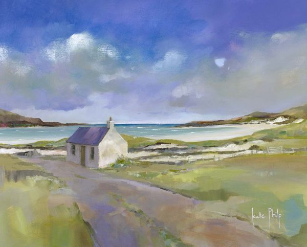 Cottage on the Shore, Balnakeil_19.5x16_Open Edition