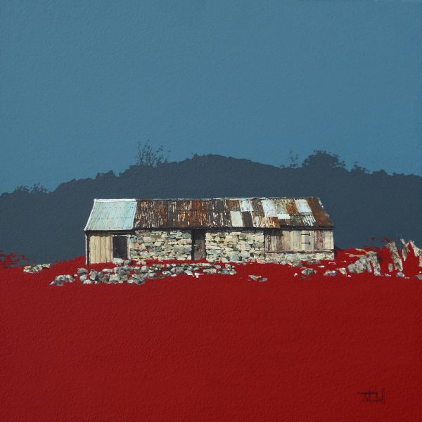 Dry Stone Byre, Duirinish, Kyle of Lochalsh (size 18 x 18 inches)