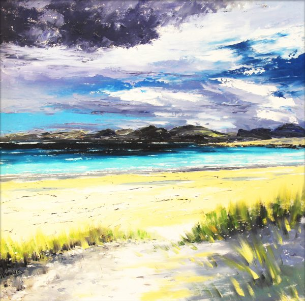Early Autumn Light, Luskentyre, Harris_799_oils_24x24_unframed