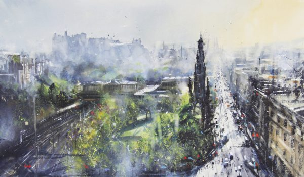 Graham Wands_Castle Esplanade, Edinburgh_Watercolour_19x29_30x40 unframed