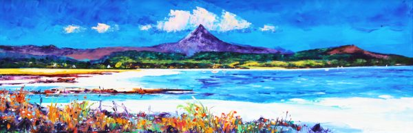 Jean Feeney_Goatfell from Brodrick Bay_16x47_1600_unframed