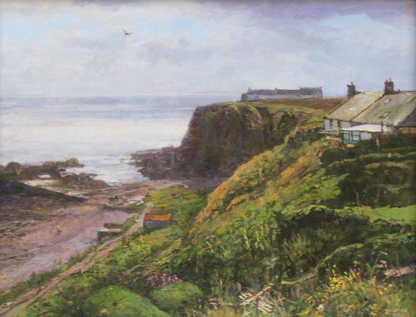Jonathan Mitchell_Above Auchmithie Bay_44x36_64x61_1150_unframed