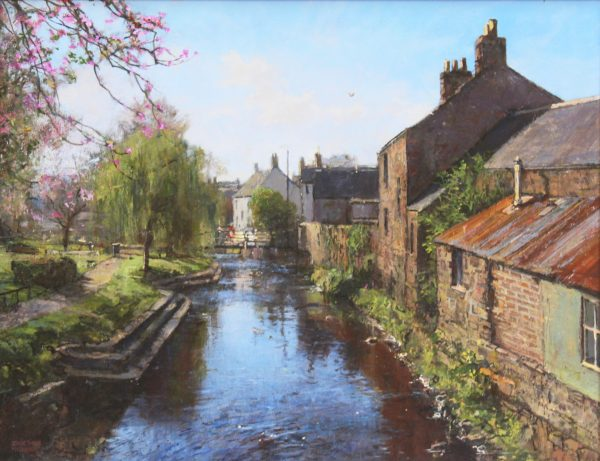 Jonathan Mitchell_Alyth Burn in Spring_60x46_80x66_1950_unframed