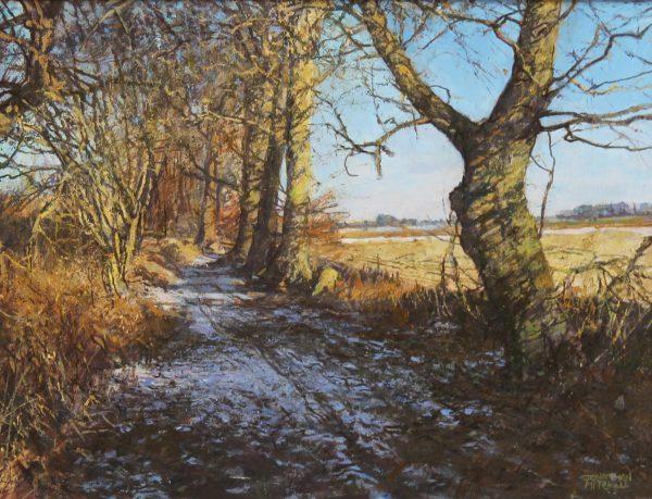 Jonathan Mitchell_Kinnordy Track, Winter_47x35_67x55_1250_unframed