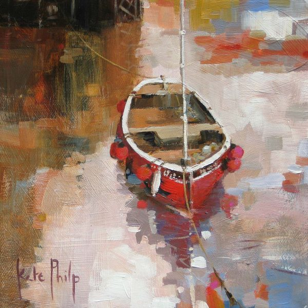 Little Red Boat_10.5x10.5_Ltd Edition od 250