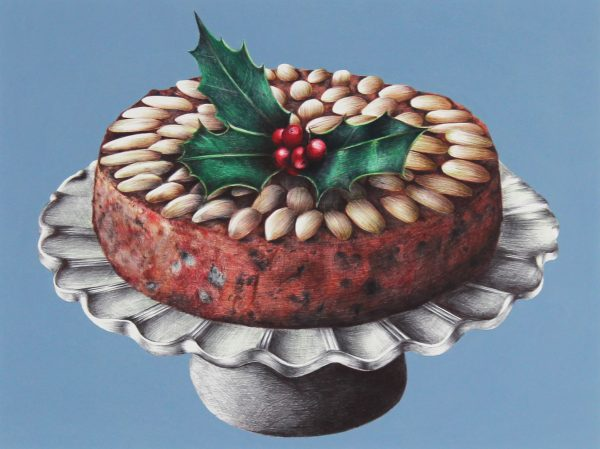Nicola Ross_Dundee Cake_Biro Pen, Mixed Media_11x14_19.5x22.5_400_unframed