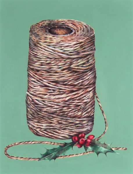 Nicola Ross_Twine_Biro Pen, Mixed Media_13x10_21x18_400_unframed