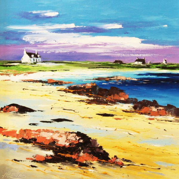 On the Shore, Summer, Gottbay, Tiree_499_oils_16x16_unframed
