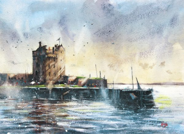 Graham Wands_Morning Light, Broughty Ferry_Watercolour_15x20_24x29_unframed_595