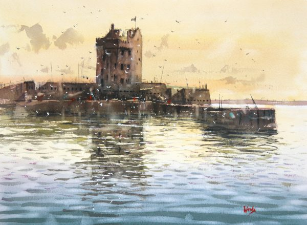 Graham Wands_Sunrise, Broughty Ferry_Watercolour_15x20_24x29_unframed_595