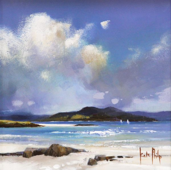 Kate Philp, Mull from the Monk's Strand, Iona_ 8x8_17x17_350_unframed