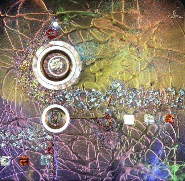 Rob Ryan_Baroque_40x40_695_Glass and Mixed Media
