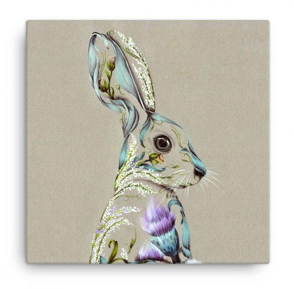 Rustic Hare_Small Canvas_8x8_15.00