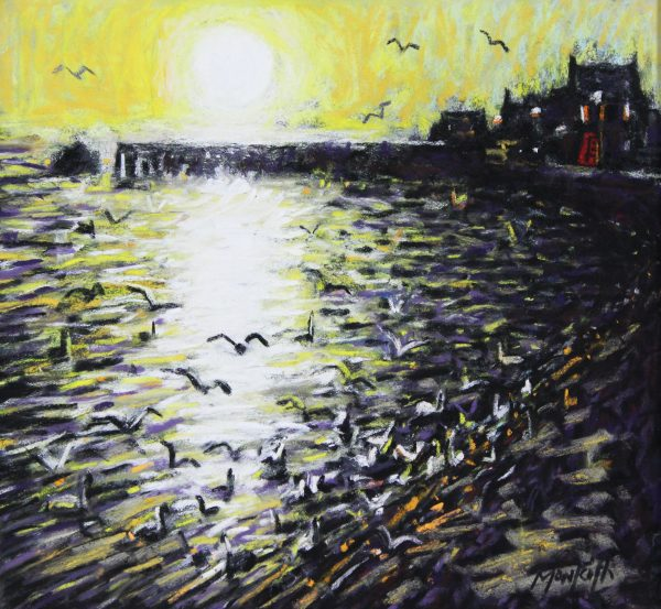 Charles Monteith Walker_Sundown Broughty Ferry_Pastel on Paper_12x11_20x19_1450_Unframed