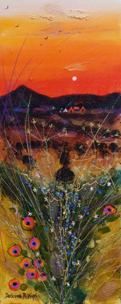 Deborah Phillips_Black Mountain Dusk_20x8.5_30x18_Acrylic_Unframed_995