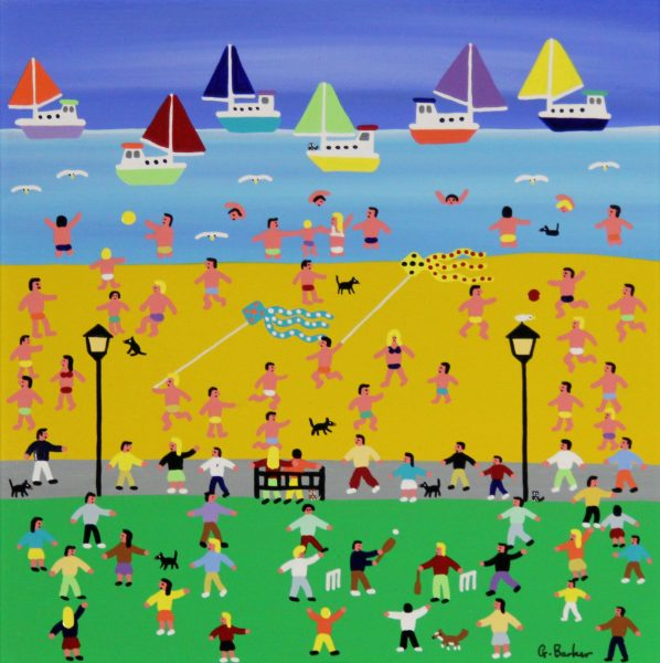 Gordon Barker_A Perfect Beach Day (I)_Acrylic_195_Unframed