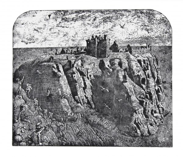 Johnny Johnstone_Dunnottar Castle_Signed. Edition of 60_Etching_225