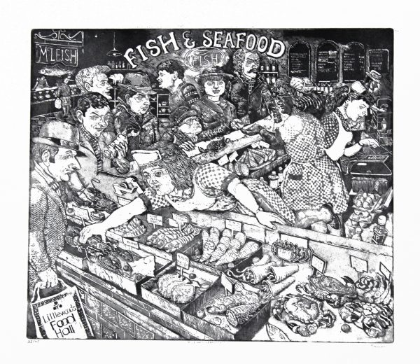 Johnny Johnstone_McLeish's Seafoods_Signed. Edition of 40_Etching_225