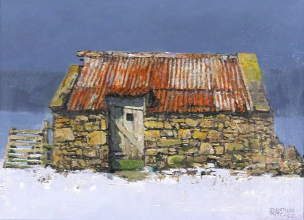 Jonathan Mitchell_A Cottage Near Daviot, Winter_8x10.5_Oil_575_Unframed