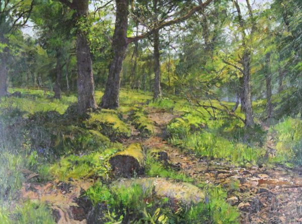 Jonathan Mitchell_Early Summer in the Woods Above Alyth_17.5x23.5_Oil_1950_Unframed