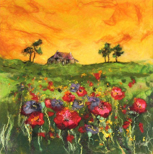 Moy Mackay_On Tangerine Hill_22.5x22.5_29x29_1850