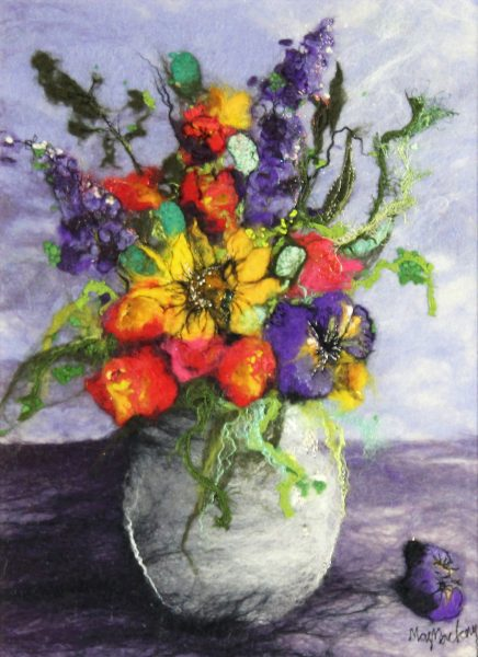 Moy Mackay_Sunflower and Pansies_16x12_20x15.5_795