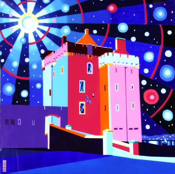 Ross Grant Thomson_Broughty Ferry Castle_30x30_34.5x34.5_1200_Unframed